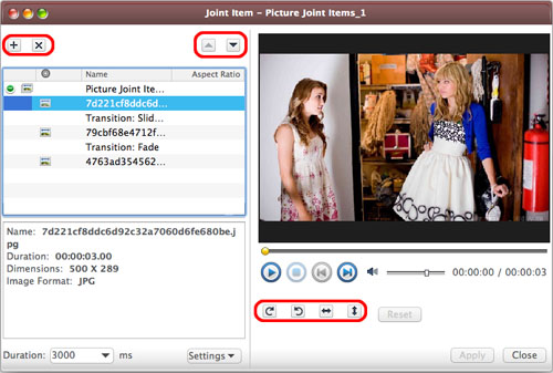 AVCWare Video Converter Ultimate for Mac - Edit merged picture