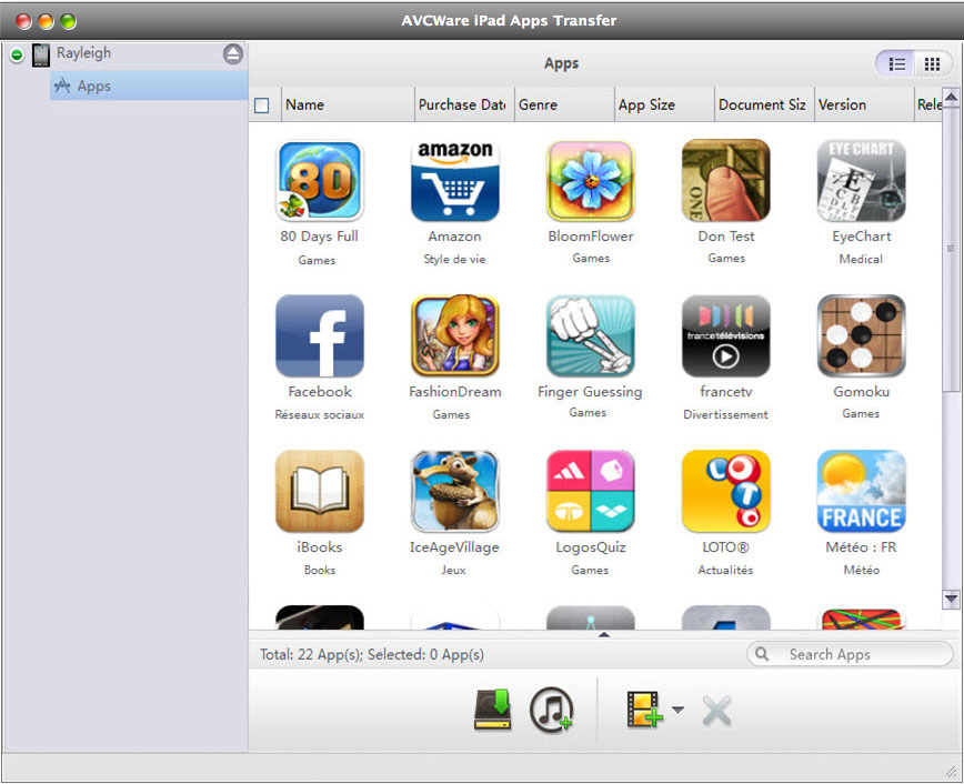 Free download AVCWare iPad Apps Transfer for Mac