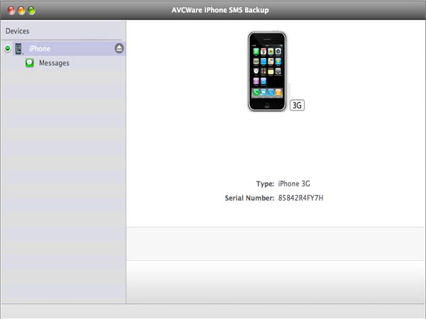 AVCWare iPhone SMS Backup for Mac.