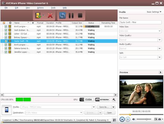 AVCWare iPhone Video Converter 6.5.2.0322 full
