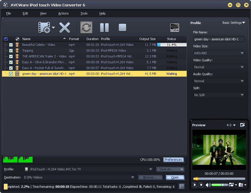 AVCWare iPod touch Video Converter