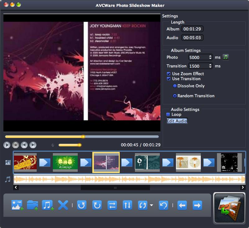 AVCWare Photo Slideshow Maker for Mac 1.0.2.0428 full