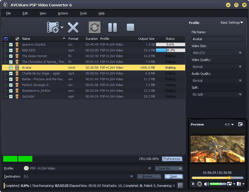 Windows 7 AVCWare PSP Video Converter 6.0.9.1231 full