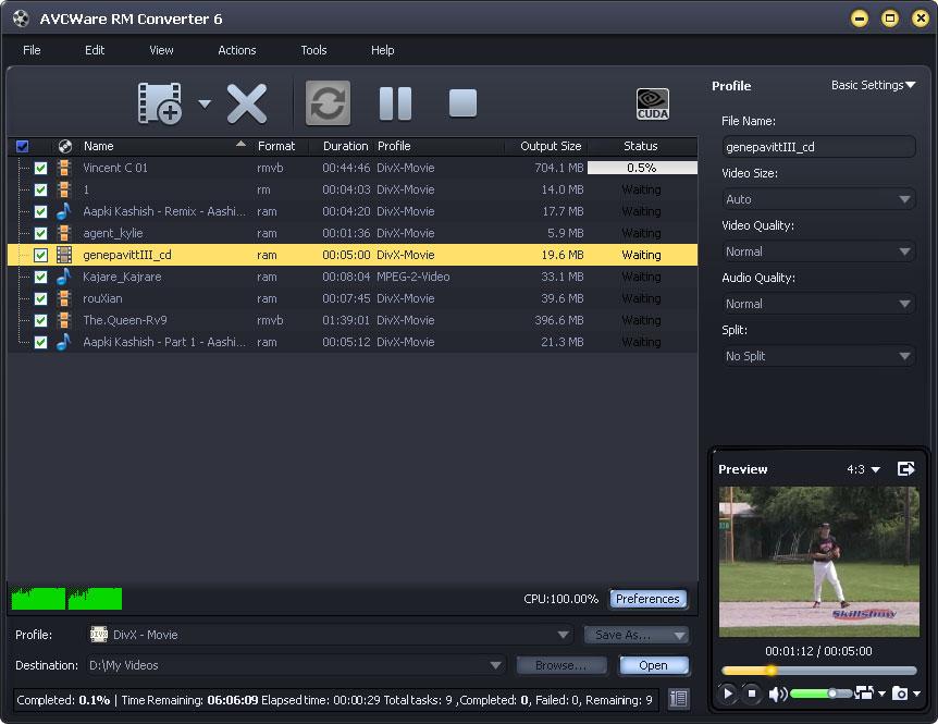 Convert RM videos to AVI/MP4 video formats