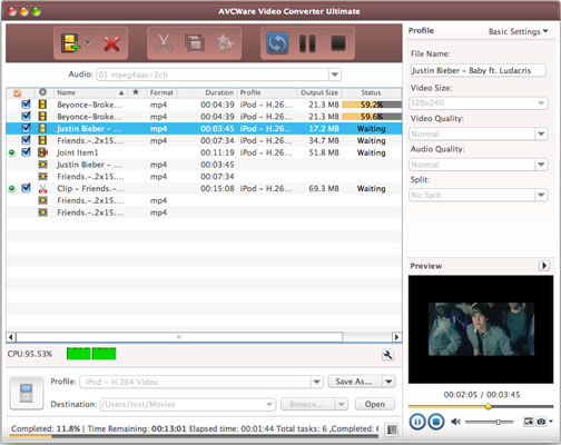 AVCWare Video Converter Ultimate for Mac full screenshot