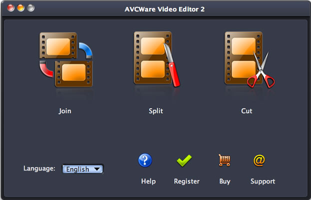 AVCWare Video Editor for Mac Screen shot
