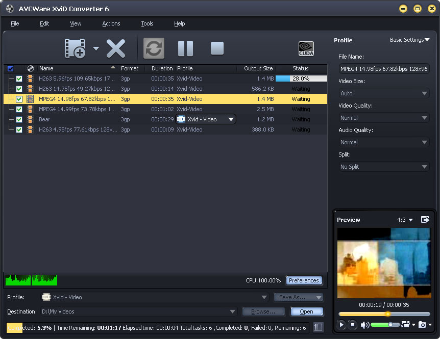XviD Converter, video converter for xvid