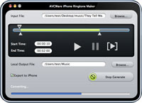 AVCWare iPhone Ringtone Maker for Mac