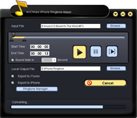 AVCWare iPhone Ringtone Maker Screenshot